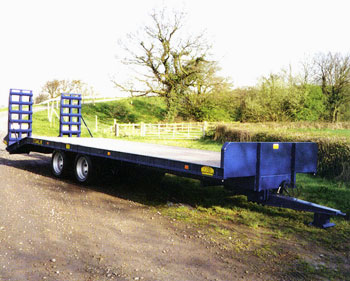 Low loader NL2016 - Wood deck with ramps